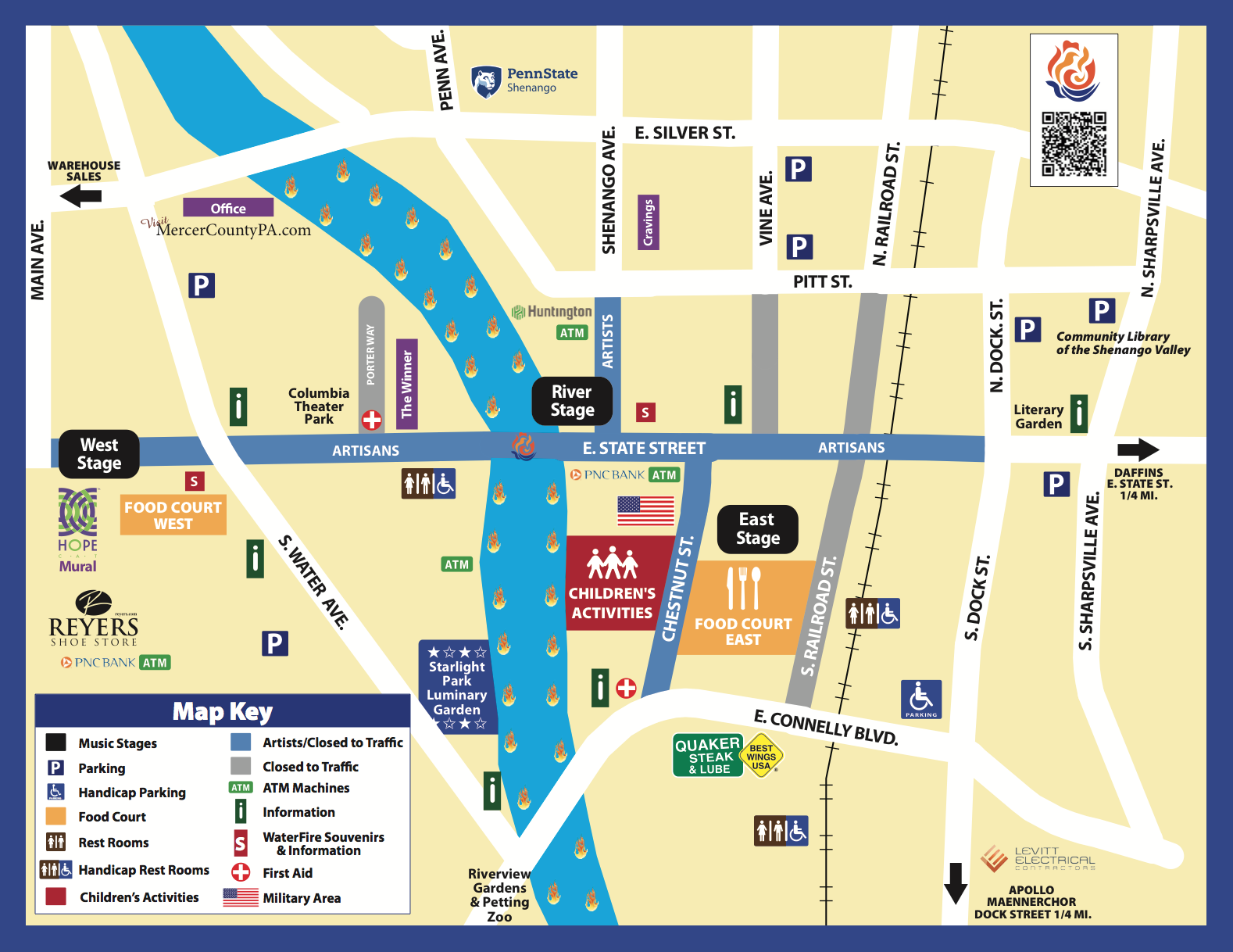 WaterFire, Sharon PA » 2017 Walking Map on i-290 map, tours on a map, quest map, transit map, biking map, tourist map, thinking map, walk map, sports map, bike map, shopping map, amtrak train map, fall color peak map, you are here map, bridge map, bus map, tv tower locations map, train ride map, beach map, port washington long island map,