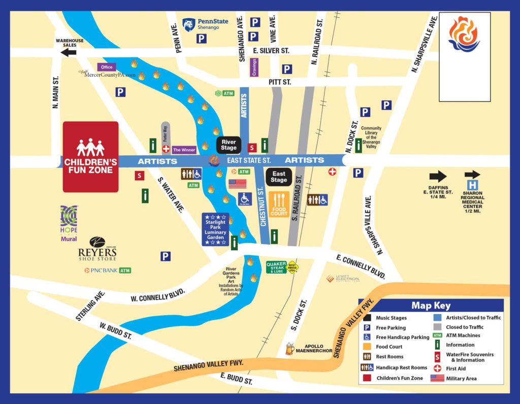 WaterFire, Sharon PA » 2019 Walking Map on i-290 map, tours on a map, quest map, transit map, biking map, tourist map, thinking map, walk map, sports map, bike map, shopping map, amtrak train map, fall color peak map, you are here map, bridge map, bus map, tv tower locations map, train ride map, beach map, port washington long island map,